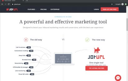 URL shortening tool with jotURL